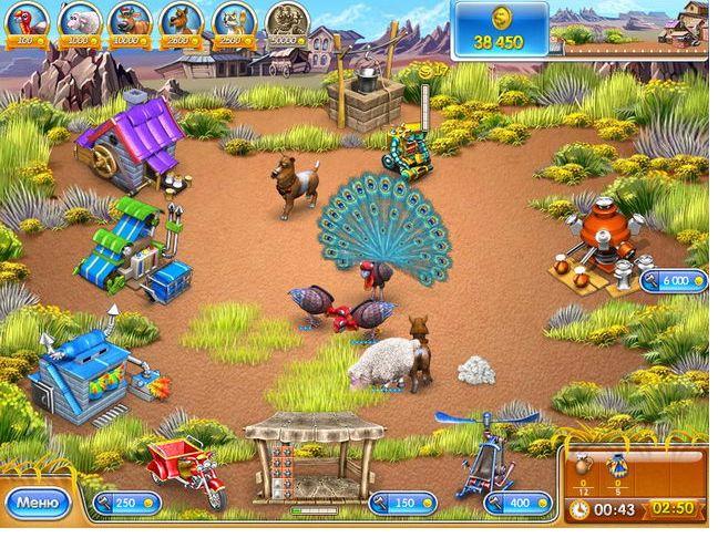 Скриншот к мини игре Веселая ферма 3. Американский пирог. главная страница